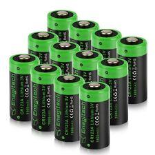 Cr123A 3V Lithium Battery, Enegitech Upgrade 1600mAh 12Pack Cr123A Batteries .