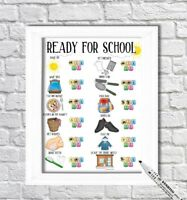 School Morning, Daily Routine chart, Weekly, Reward Chart, PECS,  ADHD, Autism