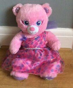 BUILD A BEAR Soft Toy Pink Teddy