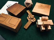 6  SETS BRAIN HACK 3D WOODEN PUZZLES FOR ADULTS AND CHILDREN