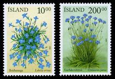 Iceland 2002 Flowers, Lobelia and Cornflower, set of 2 MNH / UNM