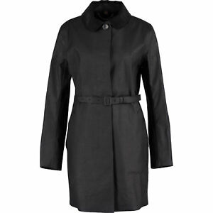 Genuine COACH Women's Black Round Collar Mac UK 6 rrp £736