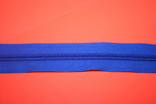 Fermeture éclair au mètre YKK Maille nylon ruban polyester Bleu 2 curseurs au M.