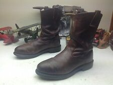 1998 STEEL TOE RED WING LEATHER ENGINEER BOSS OIL RIG TOOL PUSHER BOOTS 11D