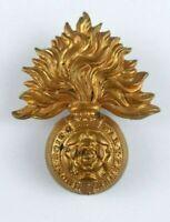 Royal Fusiliers City of London Regiment Victorion cap badge - QVC - 2 Lugs