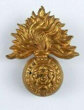 More details for royal fusiliers city of london regiment victorion cap badge - qvc - 2 lugs