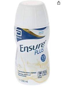 Ensure Plus Milkshake vanilla x30 expires 06/22