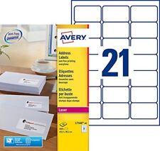 Avery L7160 Boîte de 840 Etiquettes autocollantes (21 par Feuille) - 63 5 x 3...