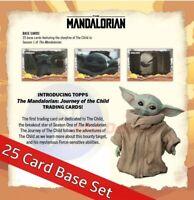 2020 Topps MANDALORIAN Journey of the Child 25-Card BABY YODA Set + Bonus PS
