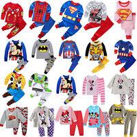 2Pcs Toddler Kids Boys Girls Cartoon Sleepwear Baby Nightwear Pj's Pyjamas Sets