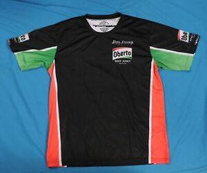Jim Dunn Racing Pullover Crew Shirt Oberto Beef Jerky Race Worn Size Large