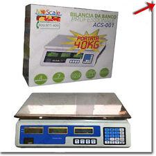 BILANCIA MAX 40 KG DIGITALE ELETTRONICA PROFESSIONALE GRAMMI CHILO CHILI