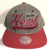 NBA Miami Heat Hat Mitchell & Ness Snapback Cap One Size Baseball Cap
