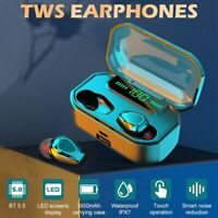 TWS Wireless Bluetooth Headphones HiFi Stereo Earbuds Headset Noise Cancelling
