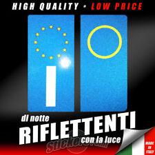 2 ADESIVI RIFLETTENTI RIFRANGENTI TARGA EUROPA ANNO AUTO  ETICHETTE OMOLOGATI