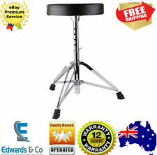 Adjustable Drum Throne Music Drummers Guitar Piano Keyboard Stool Seat Chair