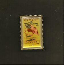 US STAR SPANGLED BANNER LAPEL PIN - 37 CENT STAMP REPRODUCTION