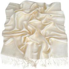 Diseño de color sólido Marfil Chal Pashmina Bufanda Envolvente Estola tirar CJ Apparel * Nuevo *