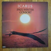Icarus Paul Winter Consort EX Vinyl Lp VG+ Record Cover Living Music LM-0004