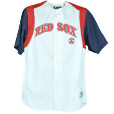 MLB True Fan Boston Red Sox Button Up Authentic Baseball Traditional Jersey