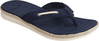 Women's Sperry Top-Sider Adriatic Jute Wrap Thong Sandal Navy Leather