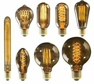 Retro Edison Bulb E27 220V 40W Ampoule Incandescent Lamp Filament Light Bulb