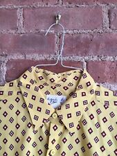 Vtg Agnes b Homme Men's Shirt, Sz 40 Medium, France Yellow