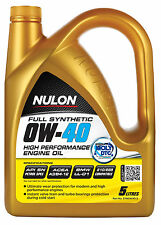 Box Of 3 Nulon Full Synthetic 0W40 High Performance Engine Oil 5L SYN0W40-5