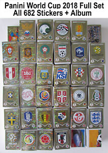 Panini World Cup 2018 Stickers Full Complete Set / Collection ALL 682 #00 - 681