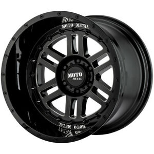 "Moto Metal MO800 Deep Six 20x10 8x180 -18mm Black/Milled Wheel Rim 20"" Inch"