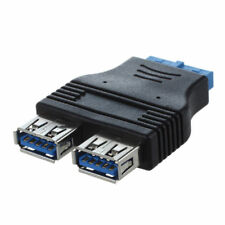 Conector adaptor USB 3.0 A hembra a hembra de cabecera de 20 pines de 2 pue L4H8