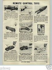 1955 PAPER AD Wen-Mac Automite Race Car Toy Aquamite Keystone Ride'Em Airplane
