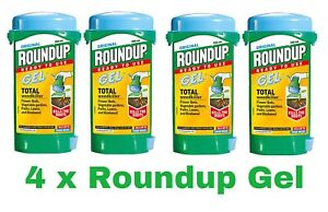 Pack Of 4 Roundup Weedkiller Gel 150ml Total ready To Use Round Up Path Lawn