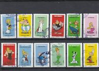 FRANCE 2019. ASTERIX.  SERIE COMPLETE DE 12 TIMBRES AUTOADHESIFS CACHETS RONDS
