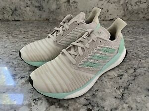 Adidas Solarboost Running Shoes Mint/White/Gray Women's Size 10 D97432
