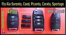 Fits Kia Sorento Sportage Cerato Rio remote key fob -Silicone key buttons (1set)