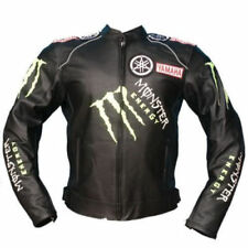 YAMAHA MONSTER RACING MOTORCYCLE LEATHER JACKET COWHIDE LEATHER CUSTOM-MADE