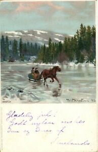 PC NORWAY, TLILS HANSTEEN, FROZEN LAKE, Vintage Postcard (b27189)