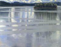 Akseli Gallen Kallela Lake Keitele Poster Reproduction Giclee Canvas Print