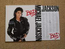 LP - Michael Jackson Bad - OIS Lyriks Gatefoldcover - (Near Mint)