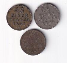 Mecklenburg-Schwerin 1/48 Taler 1848, 1852 und 1861 nsw-leipzig