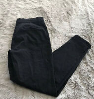 Modcloth Solid Black High Rise Seamed Skinny Ankle Retro Pin Up Pants Women's L