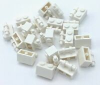 Lego 20 New White Bricks Modified 1 x 2 with Handle Pieces