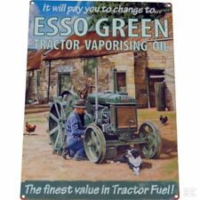Tractorfreak Esso Oil-Finest In Tractor Wall Sign Workshop Garage Collectable
