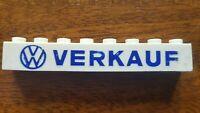 Lego 3008pb14 VW Sales Logo German set 307-2 1958 ultra rare vintage Verkauf