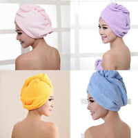 Quick Fast Dry Microfiber Towel Hair Magic Drying Turban Wrap Hat Cap Bathing