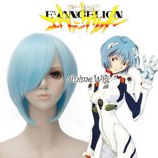 EVA Ayanami Rei Light Blue Short 30CM Anime Cosplay Wig + Wig Cap
