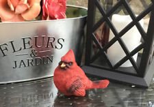 Cardinal Statue Garden Figurine Realistic Red Bird Yard Art Rustic Home Decor