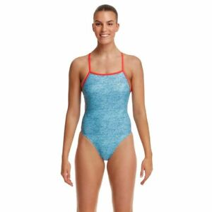 Funkita Jeanny In A Bottle Tie Me Tight One Piece Women's Swimwear, Ladies Swimw