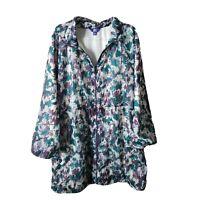 JOY LAB Athletic Jacket Womens XXL Colorful Fashion Packable Jacket Plus Size
